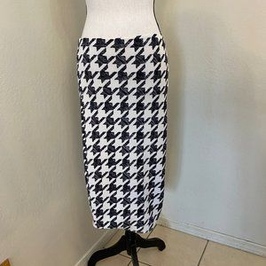 H&M Herringbone Stretch Pencil Skirt Size Small